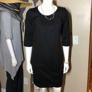 Boss by Hugo Boss black LBD dress 3/4 sleeve NWT